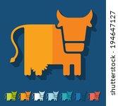 flat design  cow  livestock ...