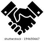 handshake icon | Shutterstock .eps vector #194650667