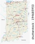 indiana road map | Shutterstock .eps vector #194685953