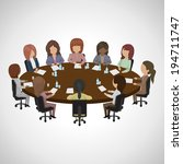 business people having meeting  ... | Shutterstock .eps vector #194711747
