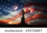 statue of liberty on the... | Shutterstock . vector #194720897