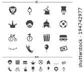 circus icons.vector eps10