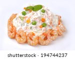 Russian Salad With Shrimps