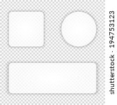 set of transparent buttons ... | Shutterstock .eps vector #194753123