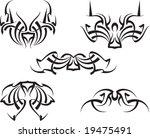 vector tribal tattoo set ... | Shutterstock .eps vector #19475491