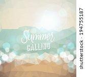 summer calling. poster on... | Shutterstock .eps vector #194755187