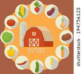 vegetable icons collection | Shutterstock .eps vector #194756123
