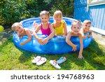joyful children playing in... | Shutterstock . vector #194768963