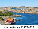 Red Cottage By The Sea On The...
