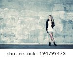 beautiful urban girl leans... | Shutterstock . vector #194799473