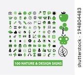 100 nature  ecology  design... | Shutterstock .eps vector #194804483