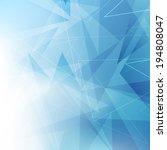 triangular blue geometrical...   Shutterstock .eps vector #194808047