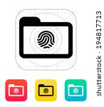 folder with fingerprint icon.