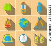 travel icons set.     Shutterstock .eps vector #194833253