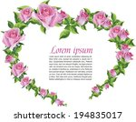 background for text with roses. ... | Shutterstock .eps vector #194835017