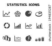 statistics icons  mono vector... | Shutterstock .eps vector #194835287