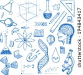 sciences doodles icons vector...