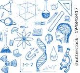 sciences doodles icons vector...