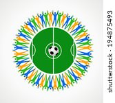 abstract people and soccer ball | Shutterstock .eps vector #194875493
