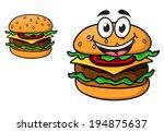 cartoon cheeseburger with a...