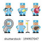 doctor with various objects in... | Shutterstock .eps vector #194907047