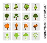 tree icon vector eps 10 | Shutterstock .eps vector #194936987