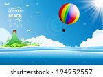 tropical background | Shutterstock .eps vector #194952557