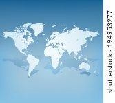 world map with shadow 3d... | Shutterstock .eps vector #194953277