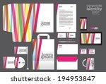 color corporate identity... | Shutterstock .eps vector #194953847