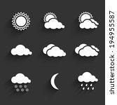 flat design weather icons set