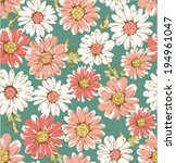 seamless flower daisy print... | Shutterstock .eps vector #194961047