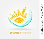 abstract summer background.... | Shutterstock .eps vector #194974547
