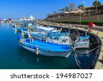 Fishing Boats In A Port Of...