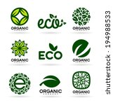 icons of organic products and... | Shutterstock .eps vector #194988533
