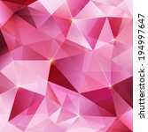 Pink Crystal Vector Abstract...