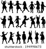 children silhouettes   Shutterstock .eps vector #194998673