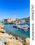 boats in a port in kyrenia ... | Shutterstock . vector #195002747