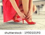 red skirt  | Shutterstock . vector #195010193