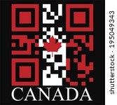 canada qr code flag  vector | Shutterstock .eps vector #195049343