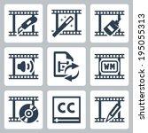 video editor and converter... | Shutterstock .eps vector #195055313