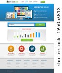 flat site template. responsive...