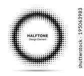 black abstract halftone design... | Shutterstock . vector #195063983