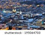 quito ecuador downtown view...   Shutterstock . vector #195064703