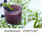 homemade smoothie with... | Shutterstock . vector #195071267