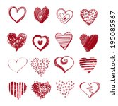 collection of hand drawn sketch ... | Shutterstock . vector #195085967