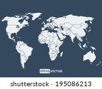 world map vector illustration | Shutterstock .eps vector #195086213