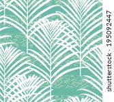 seamless modern botanical... | Shutterstock .eps vector #195092447