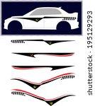 Vehicle Graphics, Stripe : Vinyl Ready  - stock vector