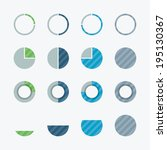 very useful pie chart and... | Shutterstock .eps vector #195130367