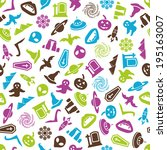 mystic seamless pattern   Shutterstock .eps vector #195163007